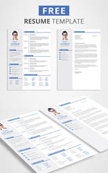 Free CV Template Download by Graphicadi