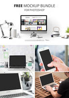 Free Device Mockups / Free PSD Mockups