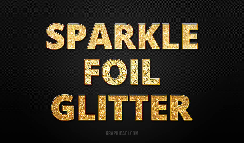 Freebie: Gold Glitter Layer Styles for Photoshop by Graphicadi