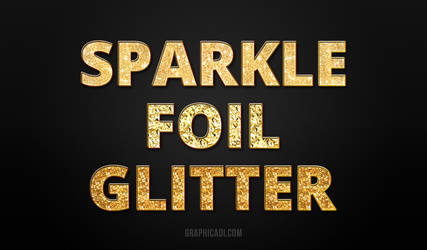 Freebie: Gold Glitter Layer Styles for Photoshop