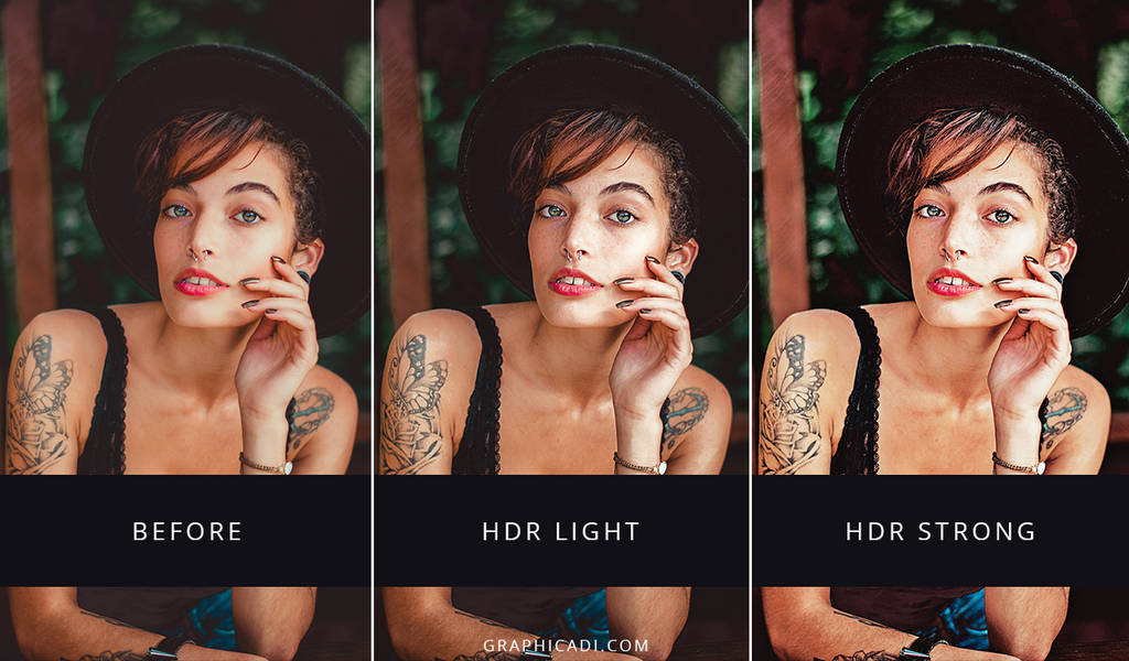 Free HDR Actions for Photoshop by Graphicadi