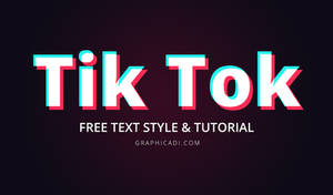 Free Photoshop Text Style and Tutorial
