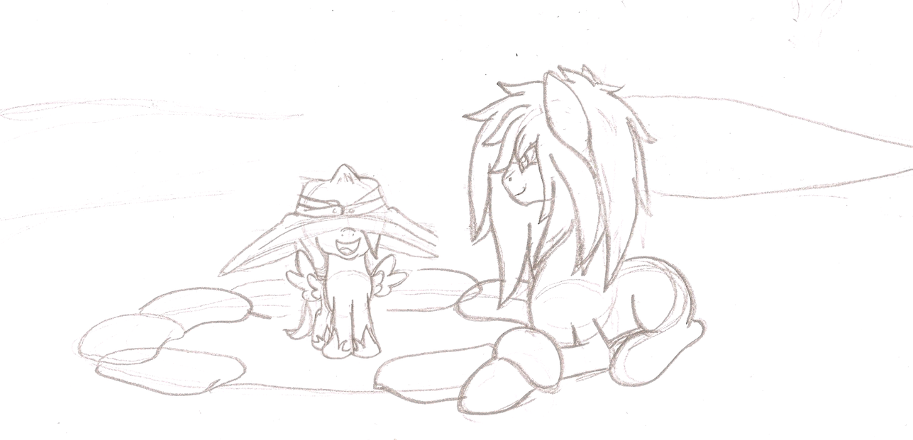 Small sketch of Woona n Alucard by ArdonSword