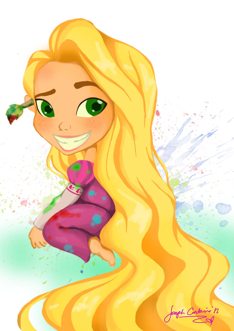 Disney's Tangled: Rapunzel Learns to Paint by goldensnitch14