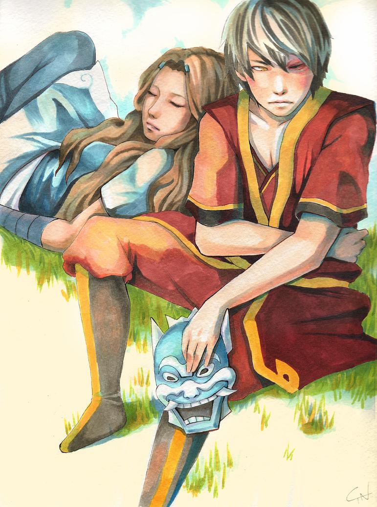 ATLA: Zuko + Katara by c-dra