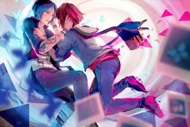 Life Is Strange- Max and Chloe by c-dra