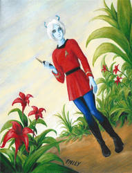 Andorian Female Starfleet Officer by JSPailly