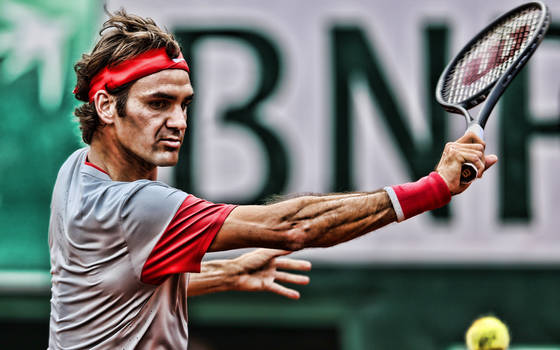1323~ Roger Federer by CoffePix