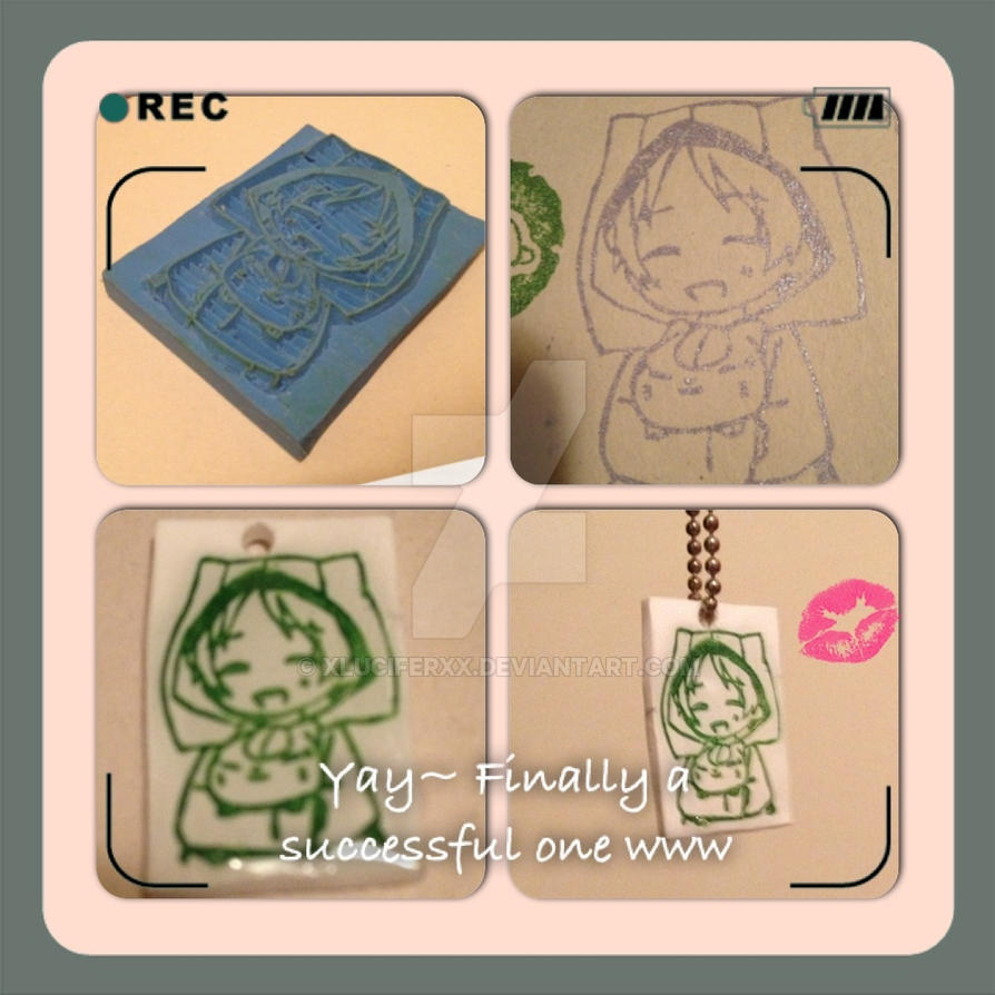 ~Natsume and Nyanko sensei Rubber Stamp~ by XluciferXX