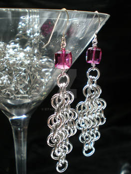 Chain Maille Crystal Earrings