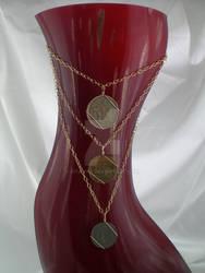 3 Tier European coin necklace