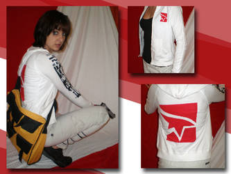 Mirror's Edge hoodie - white by eitanya