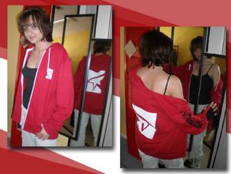 Mirror's Edge hoodie - red by eitanya