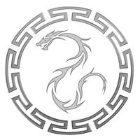 Blue Dragons logo BW by eitanya