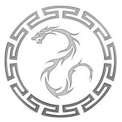 Blue Dragons logo BW by eitanya