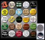 Lord of the Rings 1' pins