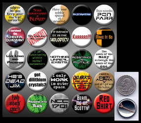 Star Trek 1' buttons