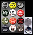 Uncharted pinback buttons