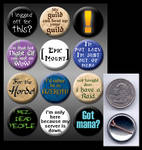 WoW pinback buttons