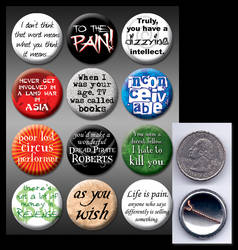 Princess Bride pinback buttons
