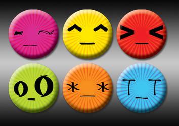 Eastern emoticon 1' pins by eitanya