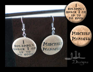 Marauder's Map earrings