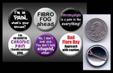 Fibromyalgia 1' buttons by eitanya