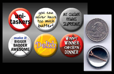 Food TV 1' buttons by eitanya