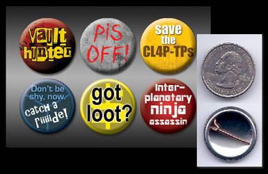 Borderlands buttons by eitanya