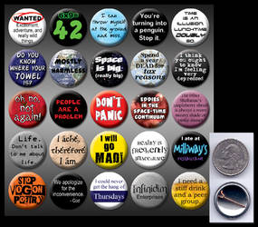 HitchHiker's Guide 1' buttons