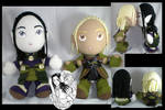 Zevran + Warden plushies
