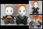 Alistair + Warden plushies