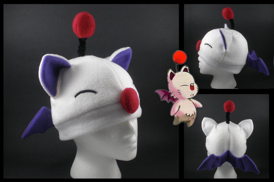Moogle fleece hat by eitanya