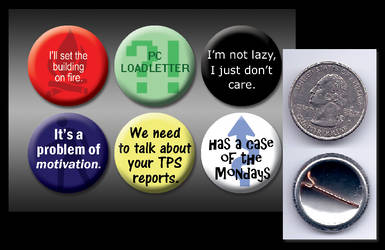 Office Space 1-inch buttons