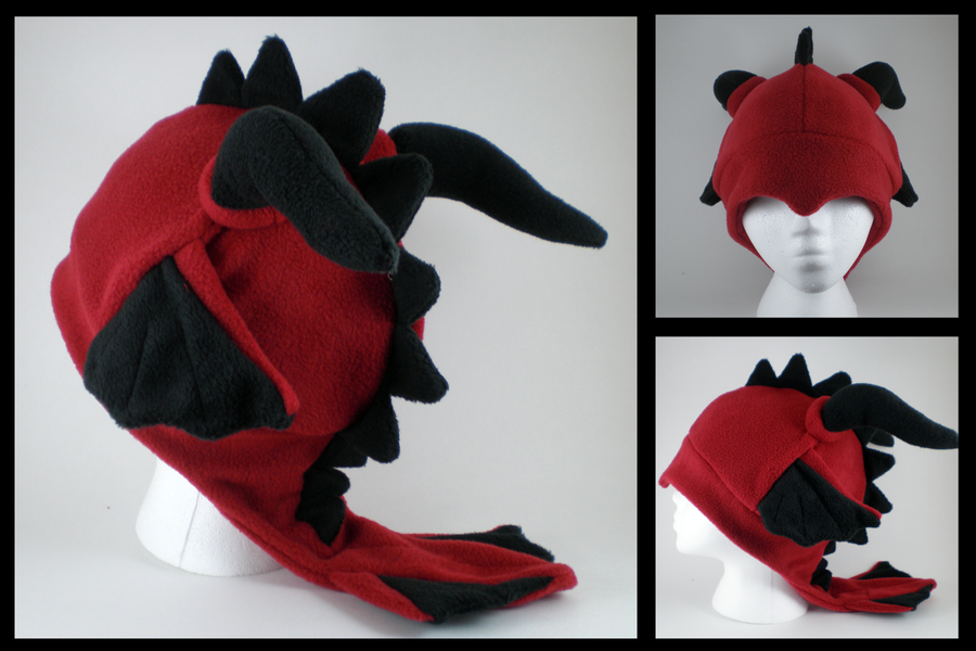 Fleece Dragon Hat by eitanya