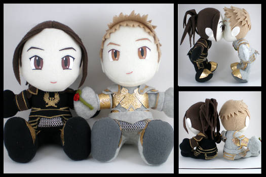 Alistair + Cousland plushies
