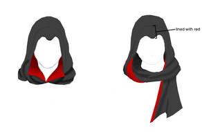 Assassin's scarf sketch