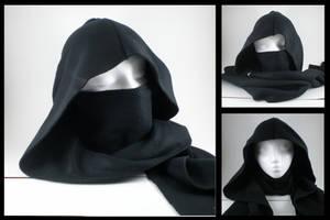 Ninja hoodie scarf - black by eitanya