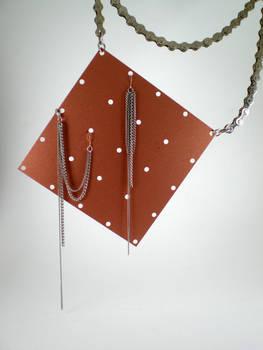 Asymmetrics upcycled earrings