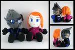 Garrus and Shepard plushies