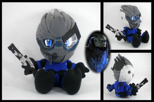 Battle Damage Garrus plushie by eitanya