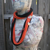 Slasher scarf - Orange n Black by eitanya