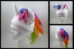Rainbow unicorn pony hat by eitanya