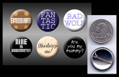 Doctor Who - Ninth doctor buttons
