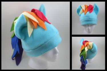 Rainbow Dash fleece hat by eitanya