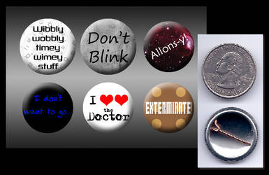 10th Doctor Who buttons