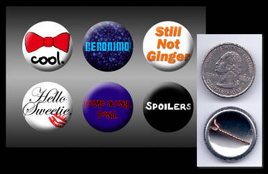 11th Doctor Who buttons