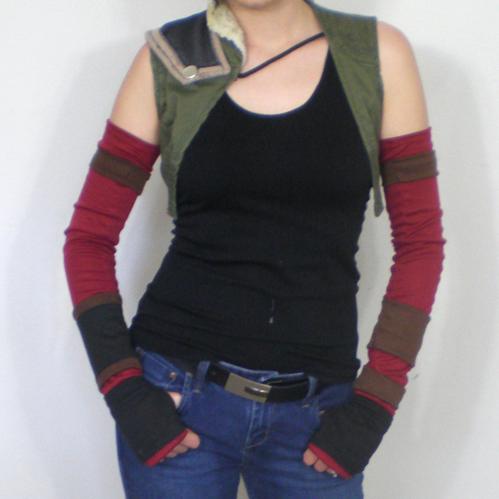 Treasure Hunter arm warmers by eitanya
