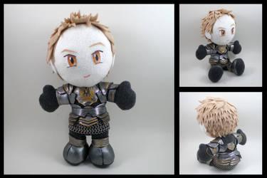 Alistair plushie - Dark Runic armor by eitanya