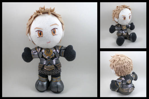 Alistair plushie - Dark Runic armor